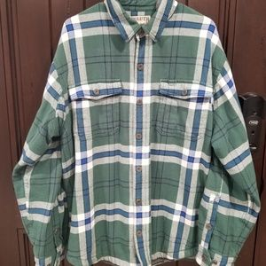 Duluth Trading Men's Lined Flannel Snap Shirt sz L